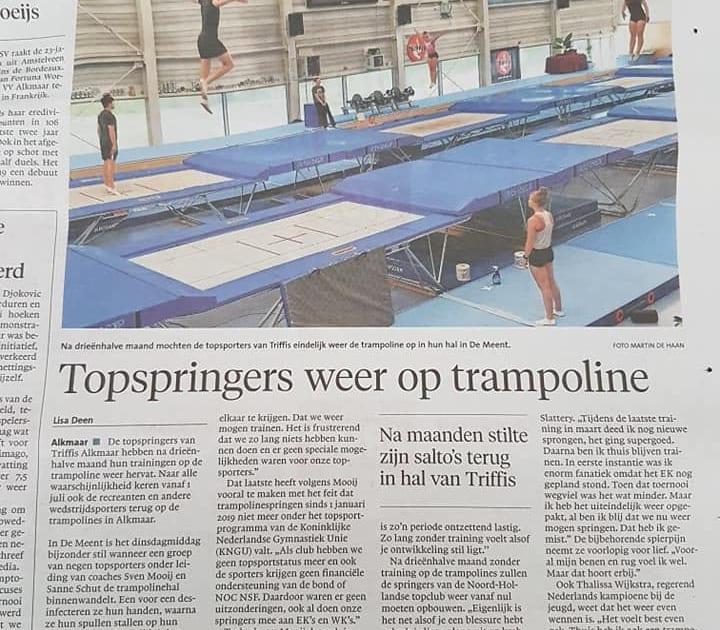 Triffis Alkmaar terug op trampoline